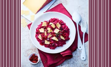 La recette du Risotto rouge avec de la betterave et de l'Appenzeller