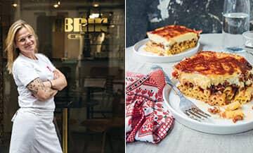 La Recette du gratin de pâtes, le Pastitsio de Cathy Paraschiv issue de son livre Ma cuisine des Balkans aux éditions Hachette