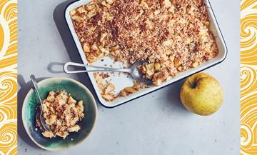 Un extraordinaire crumble aux pommes sans lactose ni gluten