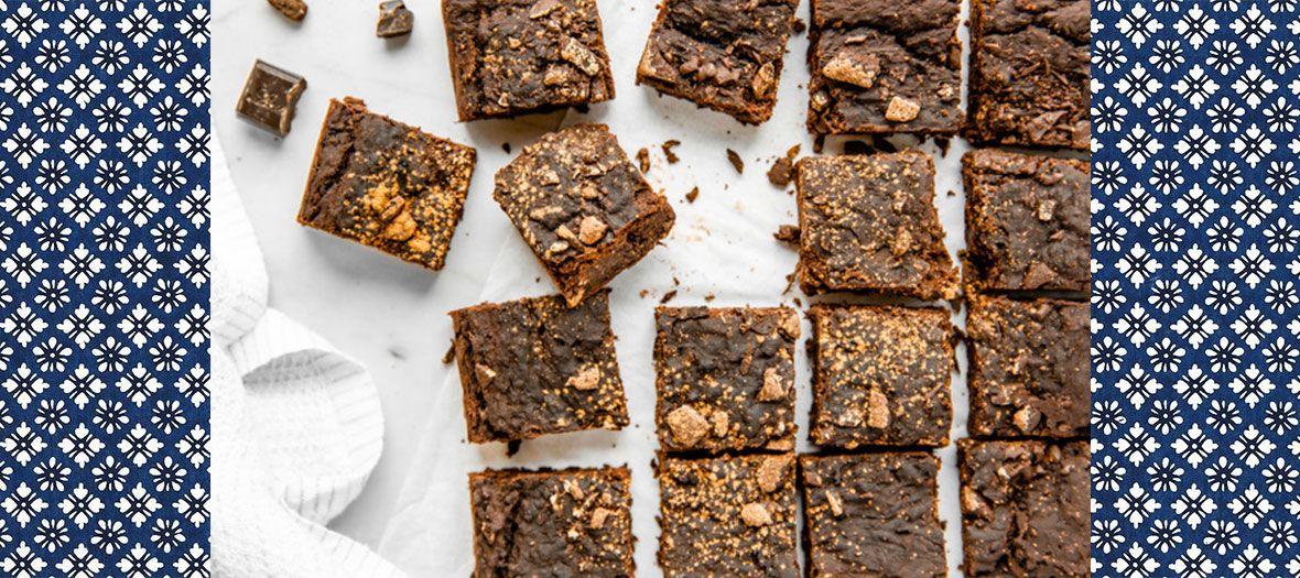 Brownie Vegan Gluten-free et sans lactose avec haricots rouges, sucre de coco, huile de coco, levure chimique et sel