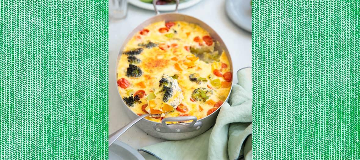 La Recette Clafoutis aux légumes de Sandra Mahut