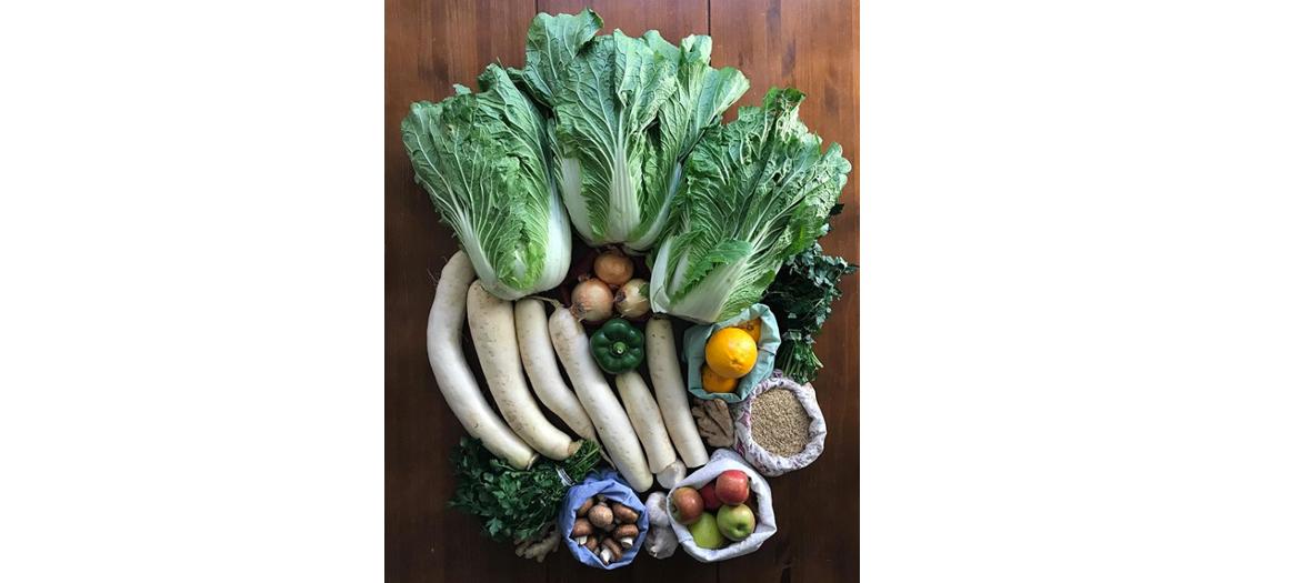 Panier de legume sur le compte instagram zerowastechef