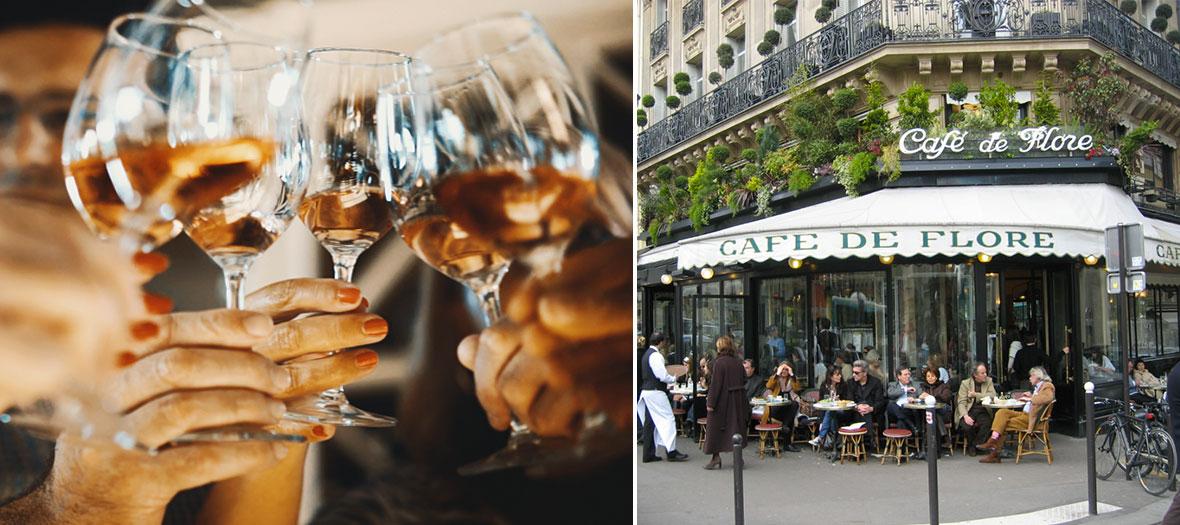 Apéro au café du Flore à Paris