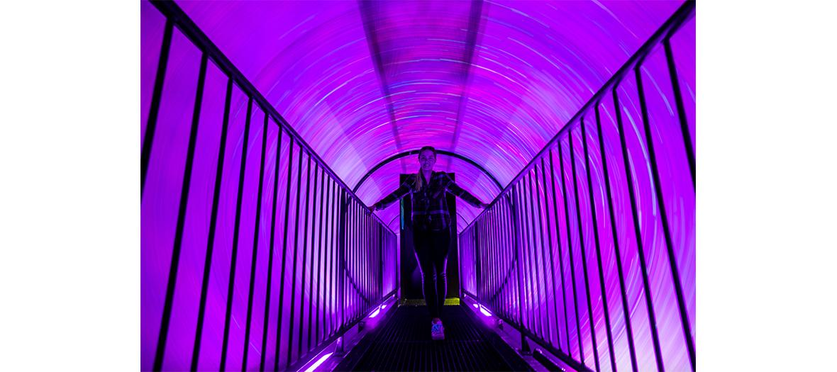 Le tunnel Vortex au Musée de L'Illusion à Paris