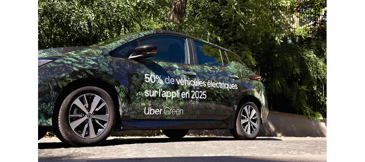 Voiture éléctrique et éco-durables Uber Green