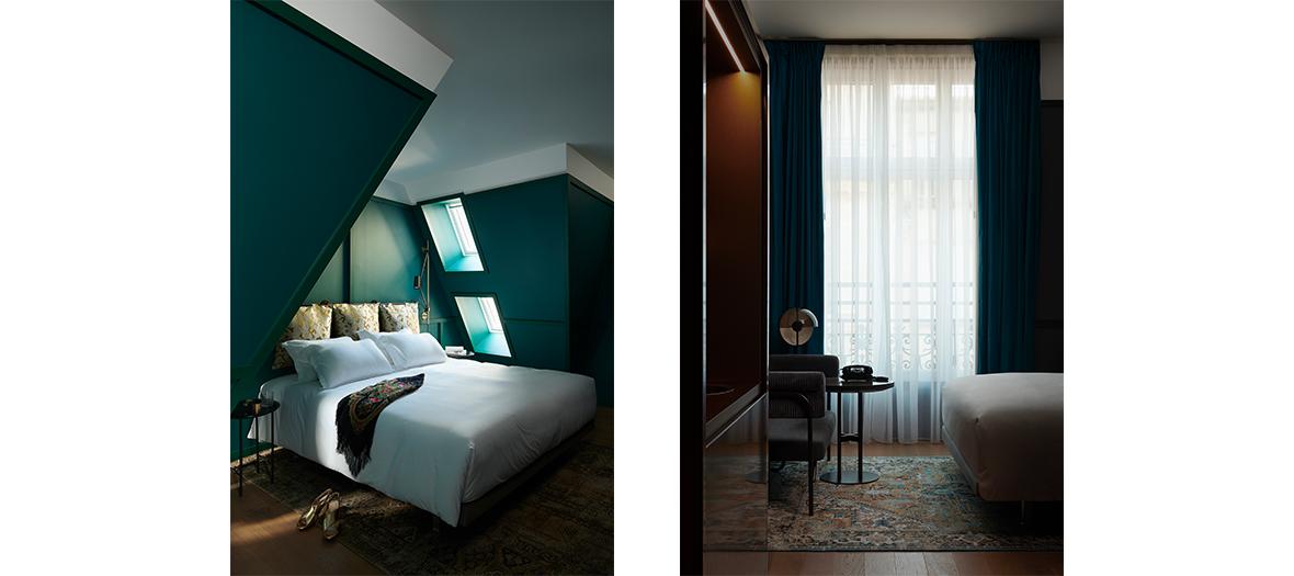 Chambre de l'hotel Ballu imaginé par L'architecte Thomas Vidalenc