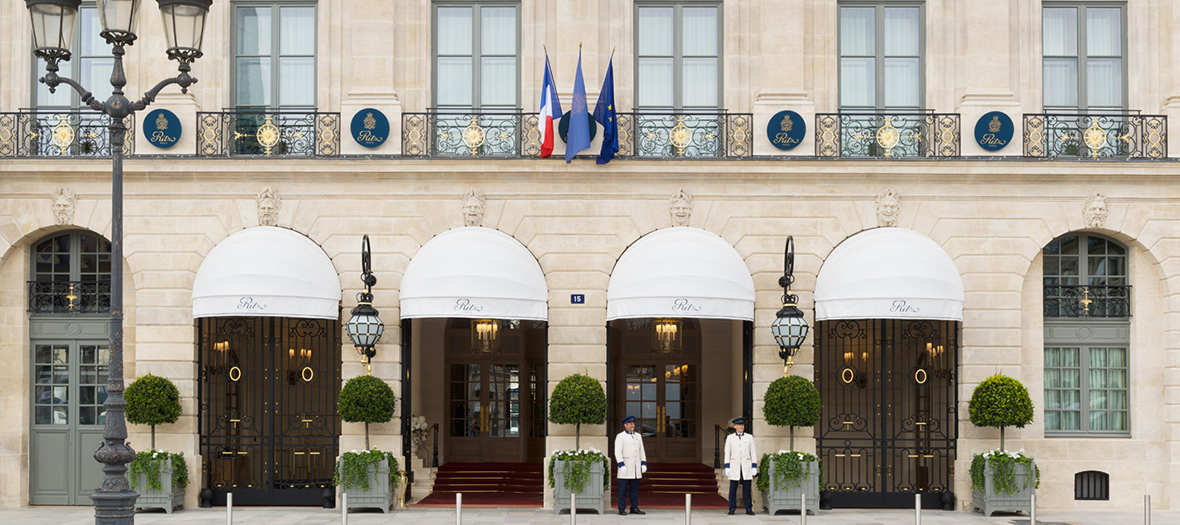the Ritz Palace facade at Place Vendôme in Paris