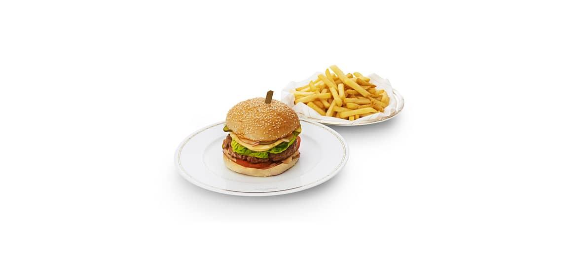 Cheeseburger en chambre au Plaza Athénée à Paris