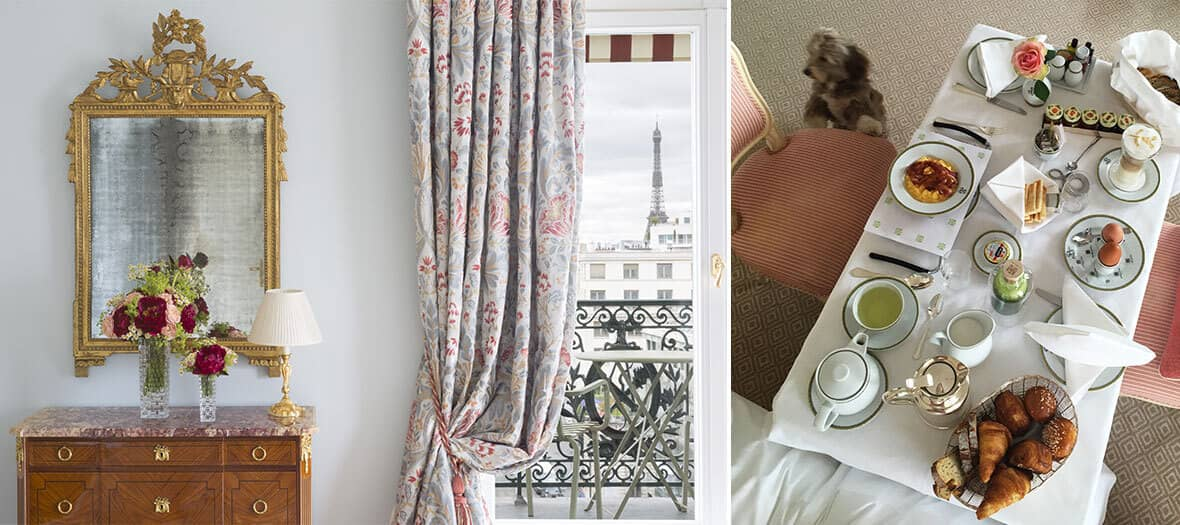 Petit-déjeuner en chambre par le room service du Bristol à Paris