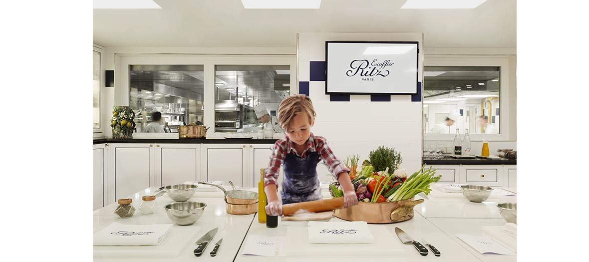 Cours de Cuisine et de pâtisserie kids de l'école Escoffier du Ritz