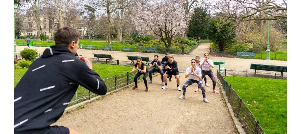 Running et Bootcamp animé par Urban Challenge aux Tuileries, au Parc Monceau au Luxembourg ou dans les jardins de Bercy.