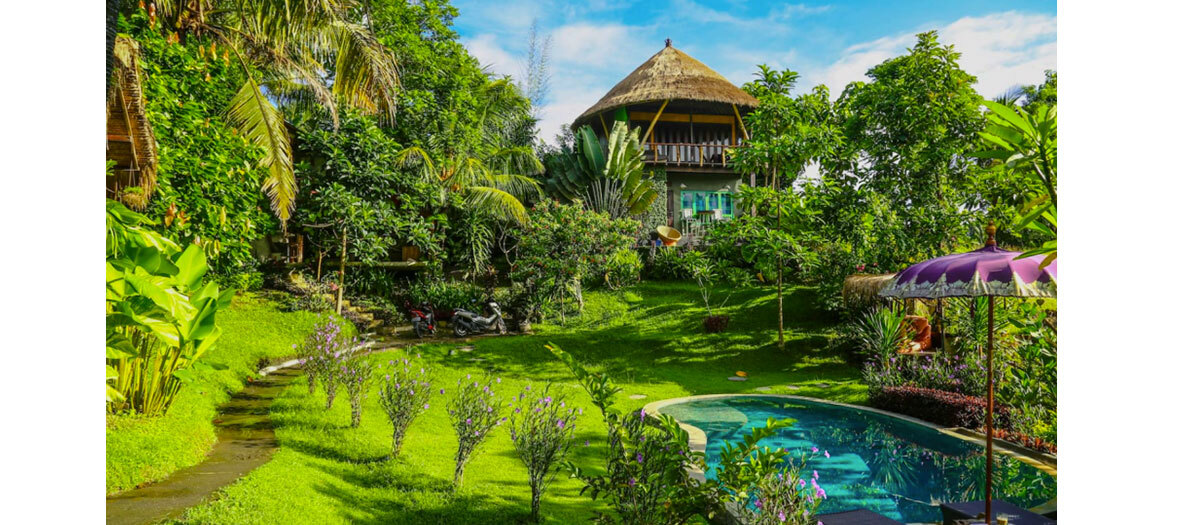 Un refuge green à Bali au coeur des montagnes du volcan Gunung Agung