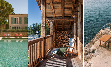 The new hotels in en 2020 with le Lou pinet in Saint-Tropez Les hortensias du lac in Hossegor, la Villa magnan in Biarritz, le Lodge loire valley, Le refuge de la traye in Méribel, Les sources de cheverny at Château du Breuil, le Tuba Club in Marseille
