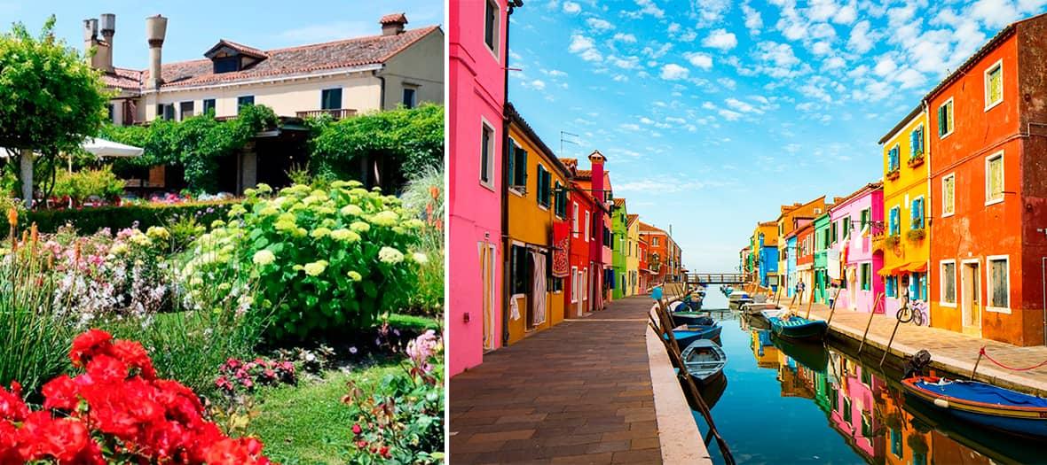 Le jardin de La Locanda Cipriani sur l'Ile de Torcello