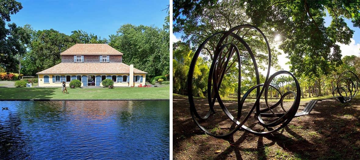 Se faire une promenade dans le parc exotique entre les œuvres monumentales de Thierry  Alet, Victor Anicet, Patricia Baffin...