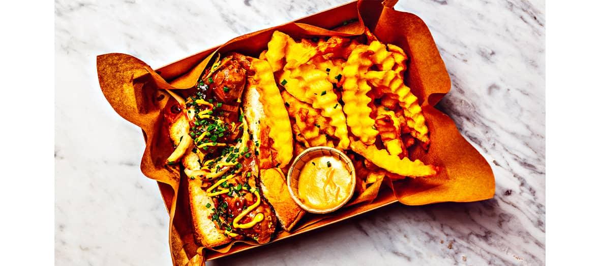 Hotdog et frites en accordéons chez Ohisse