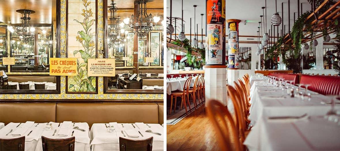 The brasserie lipp bistrot in Paris
