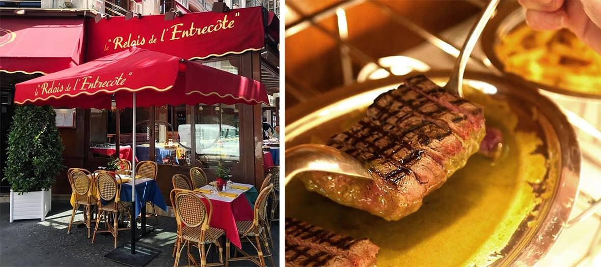 The Relais de l'entrecôte bistrot in Paris.