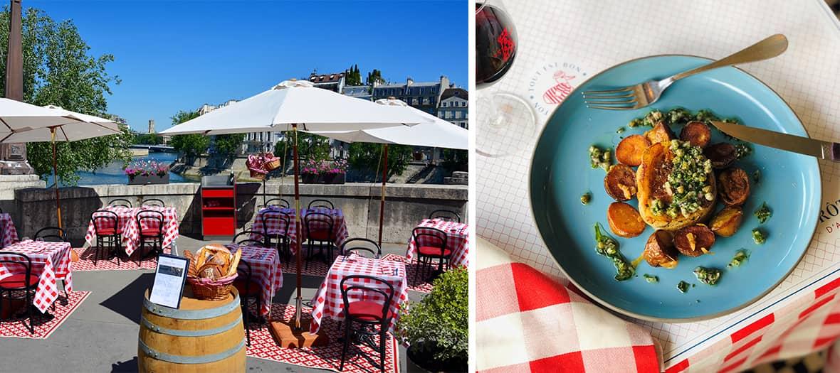 The rôtisserie d'argent bistrot in Paris