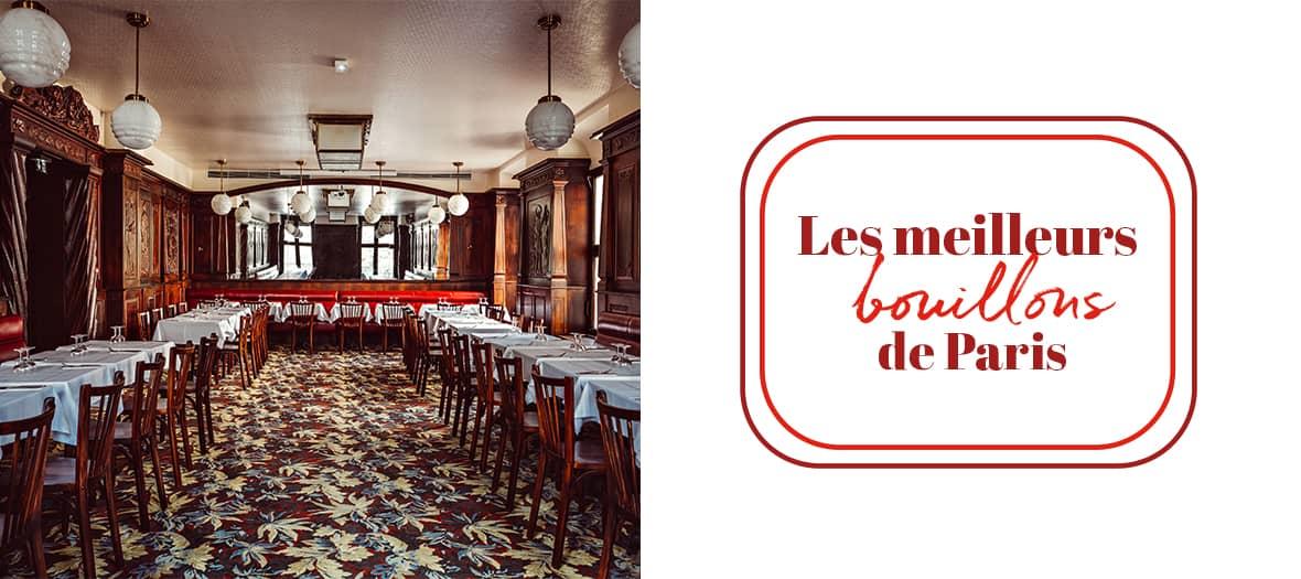 the Bouillons restaurant in Paris