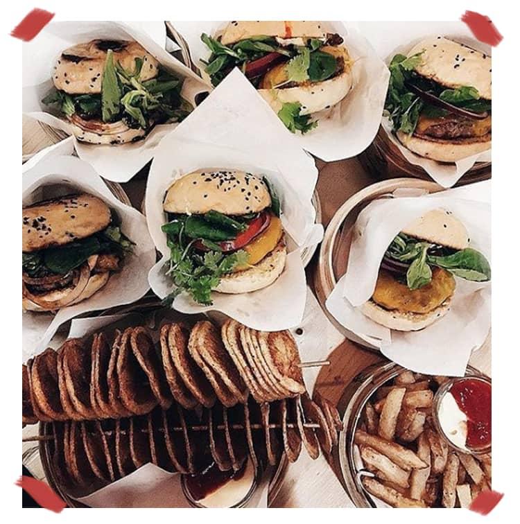 le burger en take away de chez shiso