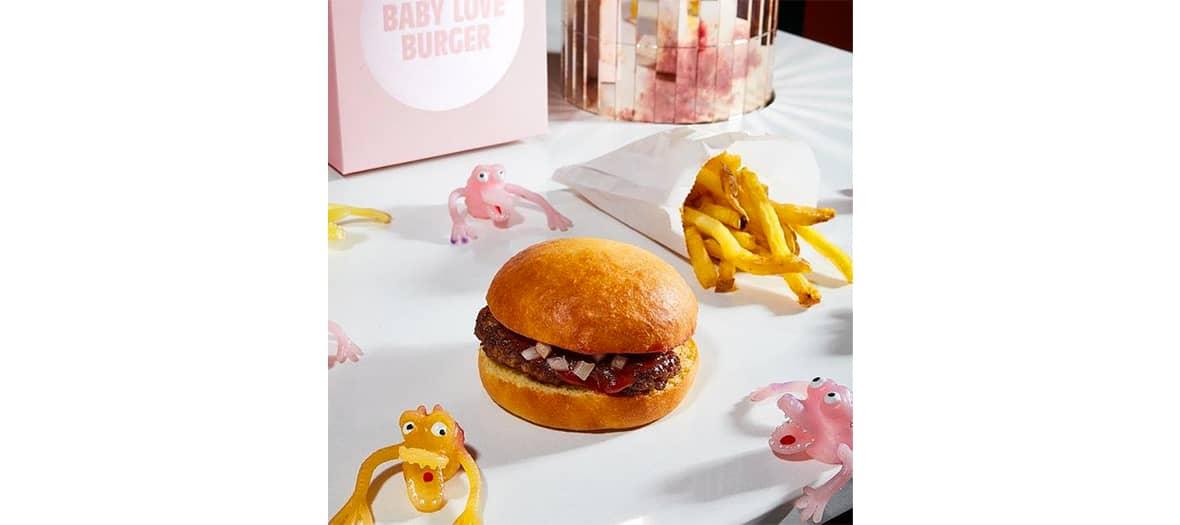 Le cheeseburger du McDo avec des bon produits chez Baby love Burger