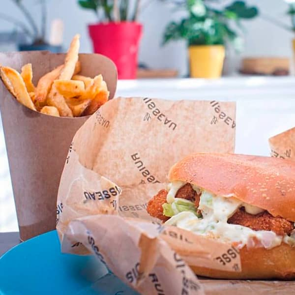 The fish burger from Ruisseau