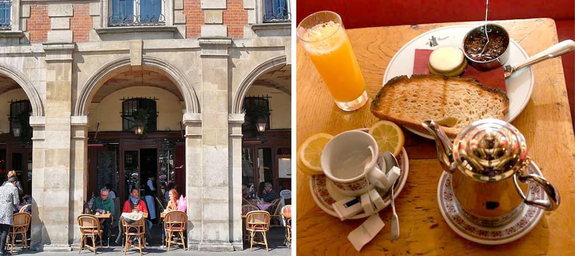 La café Ma Bourgogne Place des Vosges