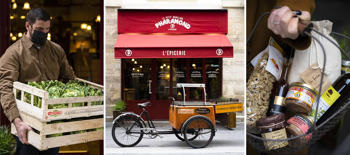 The Epicerie Petit Bouillon Pharamond inaugurates its grocery store in Paris.