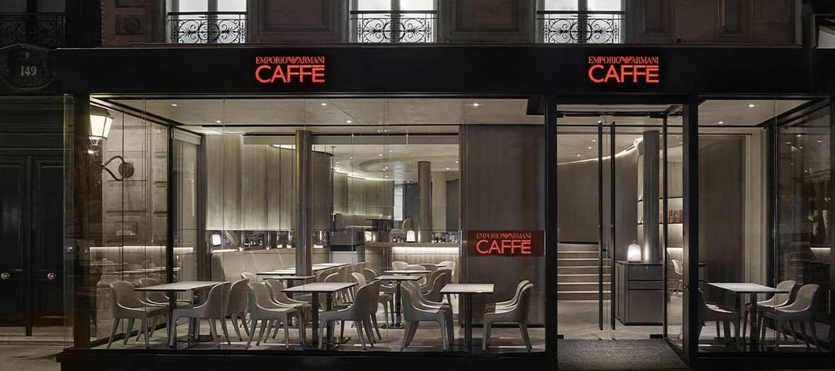 l'Emporio Armani Caffè à Saint-Germain des Prés à Paris