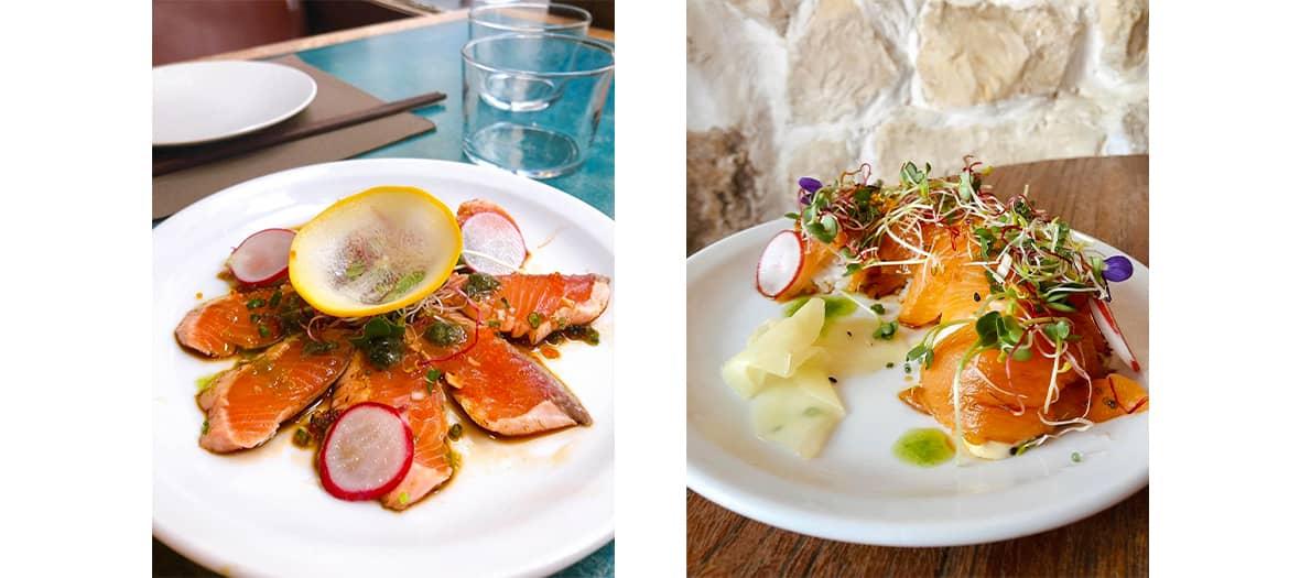 Les sashimis de thon à la crème yukari et oignons frits de chez Soma.