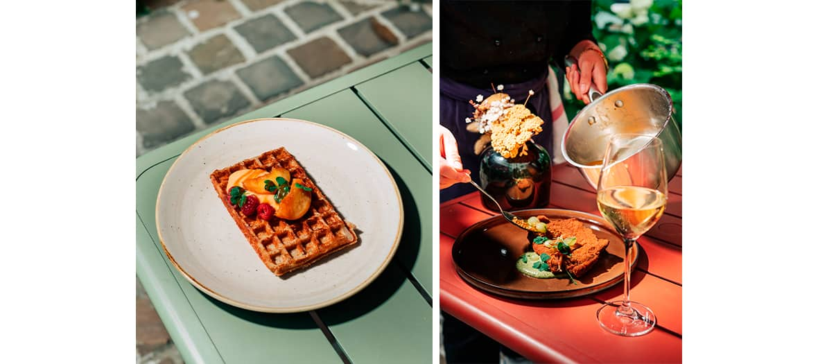 The Grand vacarme dishes and dessert