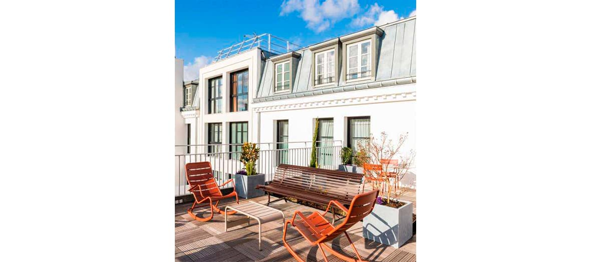 The Grand Vacarme hotel in paris and rooftop