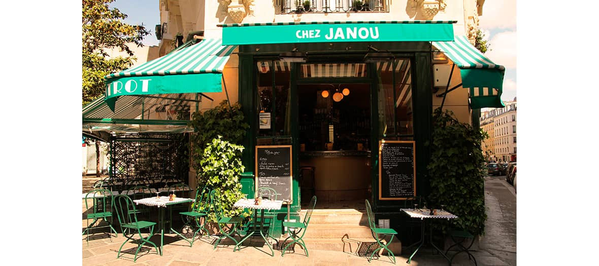 La terrasse de Chez Janou