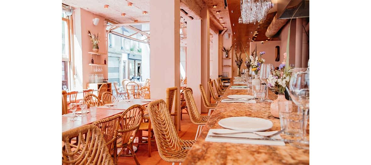 L'ambiance méditerranéenne du restaurant Dalia.