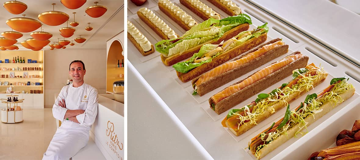 The Salmon and club sandwiches at the Comptoir du Ritz in Paris.