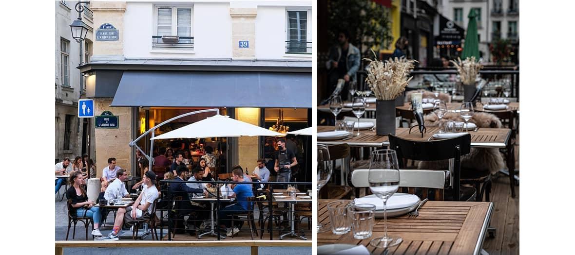 La terrasse du restaurant Liquide par Matthias Marc