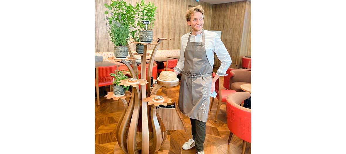 Le pâtissier Maxime Frédéric au restaurant Limbar