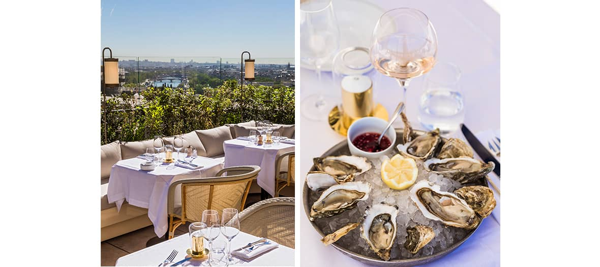 Se prendre des huîtres sur la terrasse de La Suite Girafe