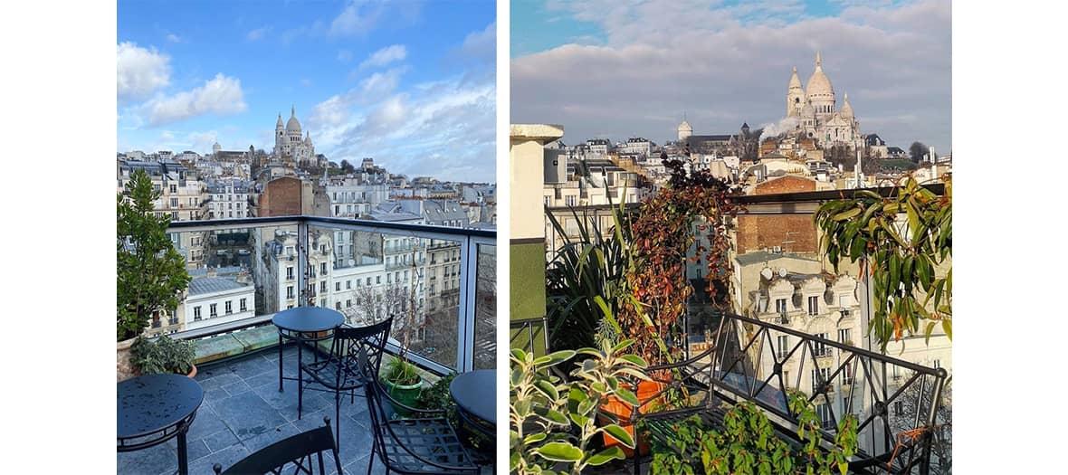 Le rooftop de l'hôtel Rochechouard à Paris