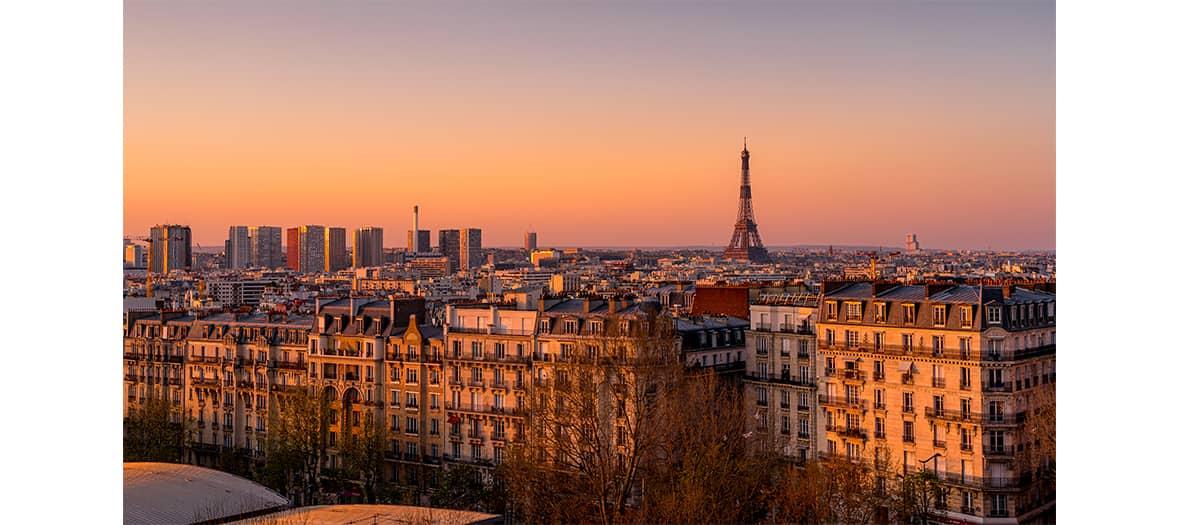 Le vue du rooftop de Pedzouille la Grange à Paris