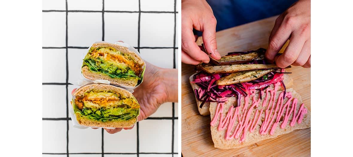 Les sandwich vegan chez Plan D