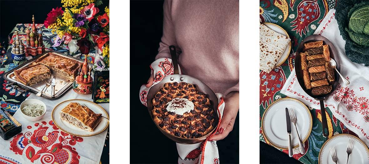 le vatrouchka, cheesecake russe aux fruits rouges au restaurant Mantchouk.