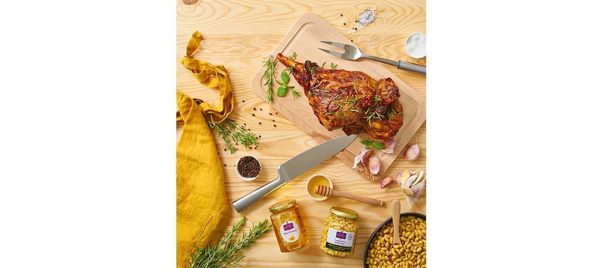 La recette du gigot d'agneau au miel