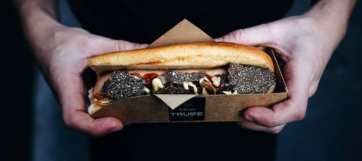 Artisan de la truffe a imaginé un petit luxe très parisien avec une vision personnelle du hot dog
