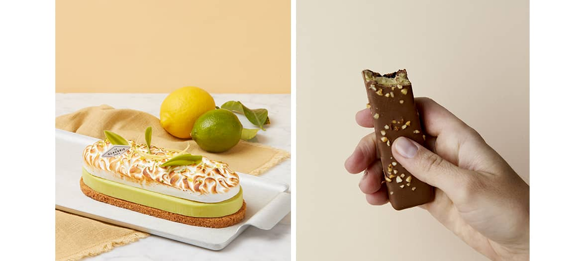 Iced Twix and Mars from La Glacerie de Paris by David Wesmael.