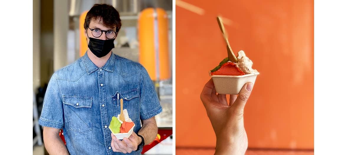 The Alain Ducasse ice cream by the italian chef Matteo Casone