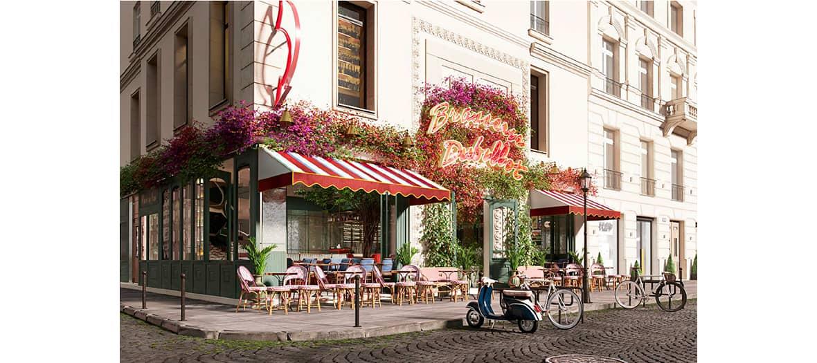 La terrasse de la Brasserie Dubillot à Paris