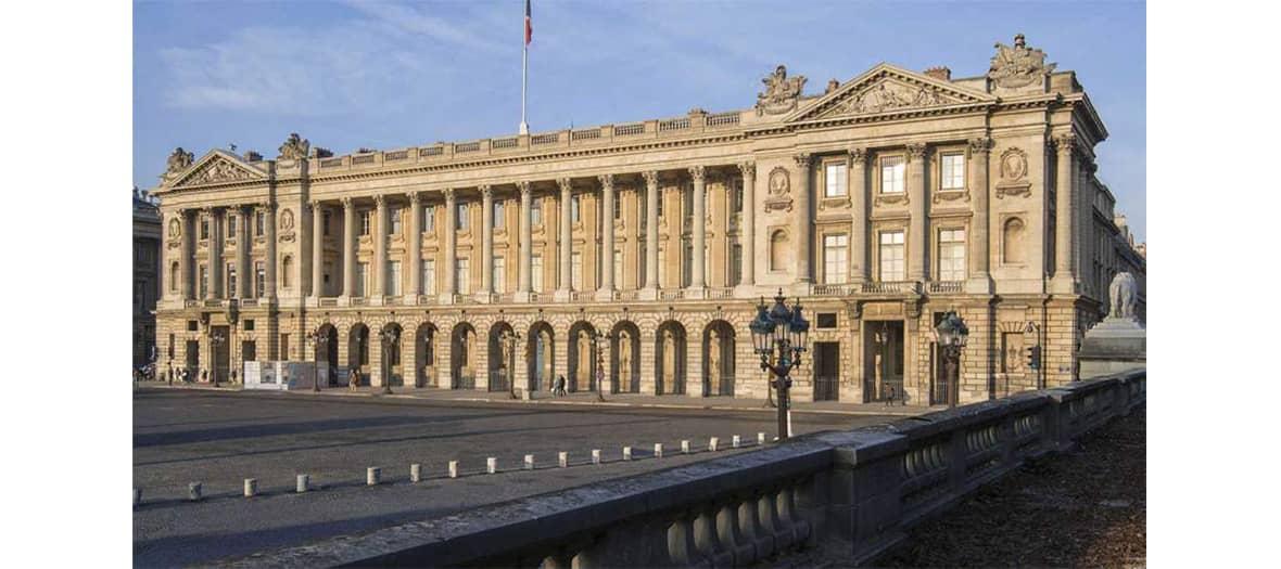 La terrasse de l'hôtel de la Marine place de la Concorde à Paris
