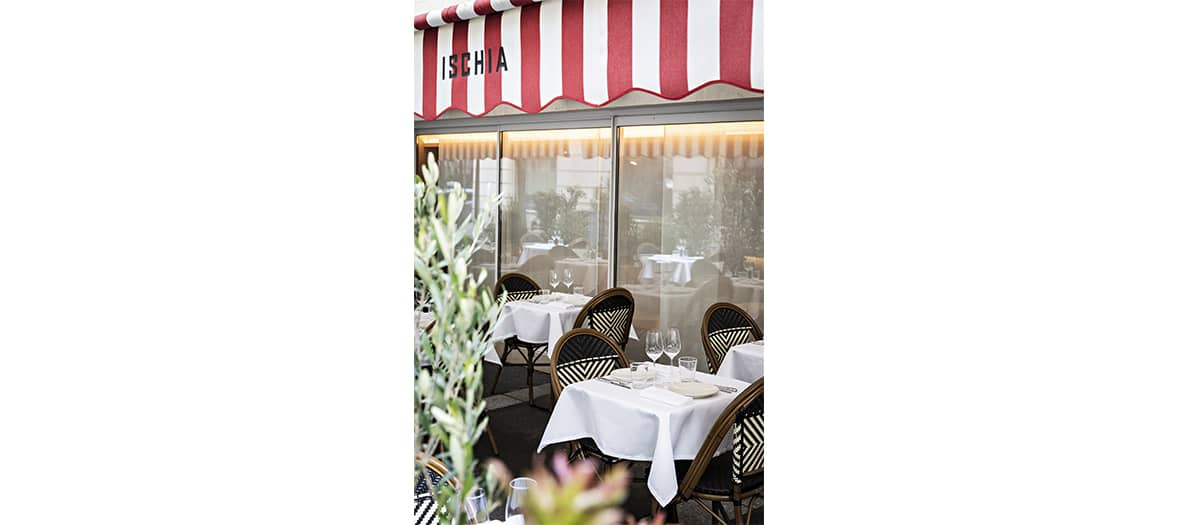 La terrasse de l'Ischia à Paris